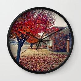 Autumn in Downtown Ironton Wall Clock