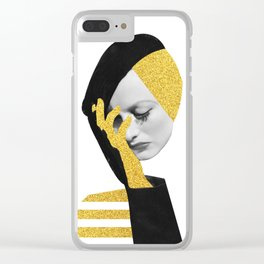 Joan d'or Clear iPhone Case