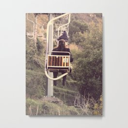Chairlift ride to Villa San Michele, Capri Metal Print