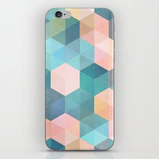 Child's Play 2 - hexagon pattern in soft blue, pink, peach & aqua iPhone Skin