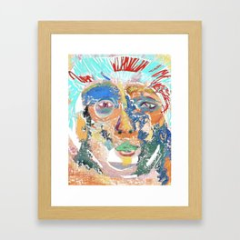 CHAMELEONESQUE Original Expressionism Art Framed Art Print