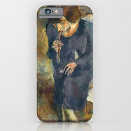Jules Pascin - Hermine with Cigarette Holder - Hermine au Fume-Cigarette iPhone Case
