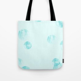 watercolor polka dot-blue Tote Bag