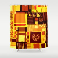 african Shower Curtains featuring African feel by clemm