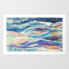 3D Ocean waves Art Print