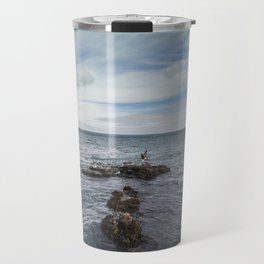 Irish bay and flying seagulls Travel Mug