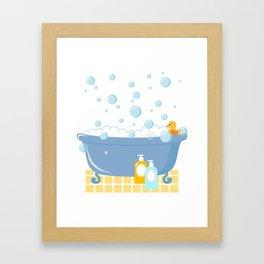 Bubble Bath Tub Framed Art Print