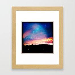 San Luis Obispo Sunset Framed Art Print