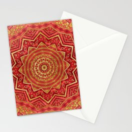 Ruby Red Mandala Stationery Cards