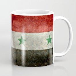 National flag of Syria - vintage Coffee Mug