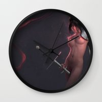 knight Wall Clocks featuring Knight by Vlad K