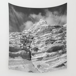 ISLAND STORIES 20 Rocky Black and White Wall Tapestry