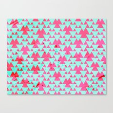 Watercolor Triangle Party Canvas Print