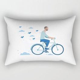 bird man bike Rectangular Pillow