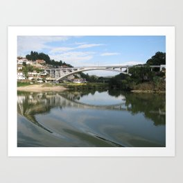 Refection On The River Art Print