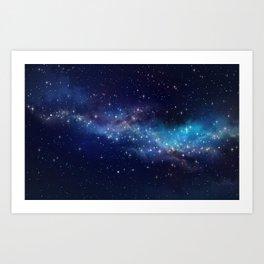 Floating Stars Art Print