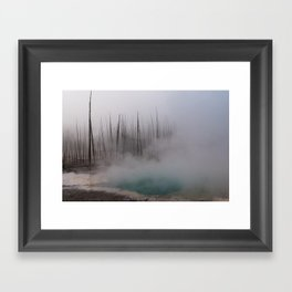Steamy Hot Spring in Yellowstone Framed Art Print