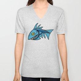 Escher Fish pattern III Unisex V-Neck