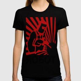 Soviet robot worker robot T-shirt