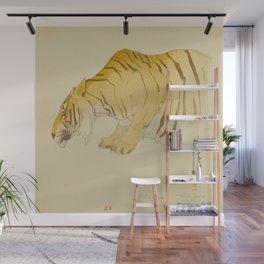 Sketch of Tiger from the Zoological Garden Hiroshi Yoshida Vintage Japanese Woodblock Print Wall Mural