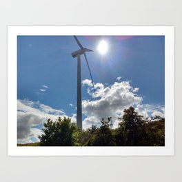 Wind Farm in the Sun Art Print