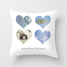 Shoot From the Heart Throw Pillow