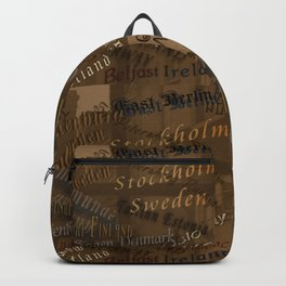 See the World Travel Plans Backpack