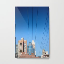 Buildings and Power Lines Metal Print