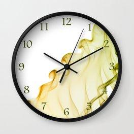 Duo color yellow green smoke Wall Clock