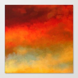 The Colors of Sunset Digital Painting Canvas Print