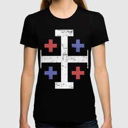 Patriotic Crusader Cross T-shirt