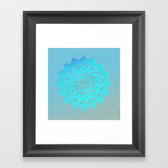 okshirahm woodcut Framed Art Print