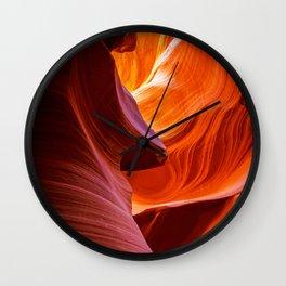SCULPTURE OF NATURE ANTELOPE CANYON ARIZONA PHOTOGRAPHY Wall Clock