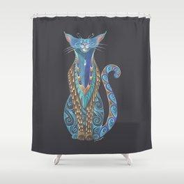 Cat Totem Shower Curtain