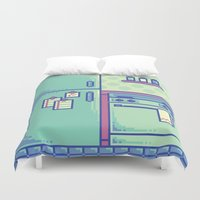 kitchen Duvet Covers featuring Pixel Kitchen by MalevolentMask