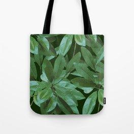 Southern Girl, Southern Magnolia Leaves, Dark Green Tote Bag
