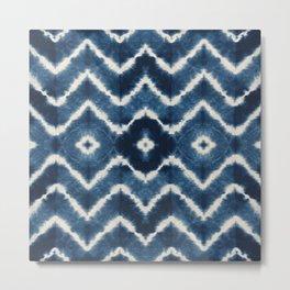 Shibori, tie dye, chevron print Metal Print