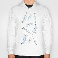 narwhal Hoodies featuring Narwhal Friends by Brooke Weeber