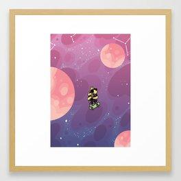 Teen Dog in Space Framed Art Print