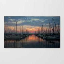 // digital versicolor // seattle Canvas Print