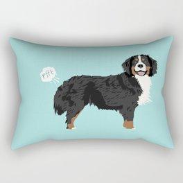 Bernese Mountain Dog dog breed funny dog fart Rectangular Pillow