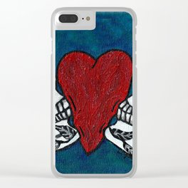 Amo y Besos (Love & Kisses) Clear iPhone Case