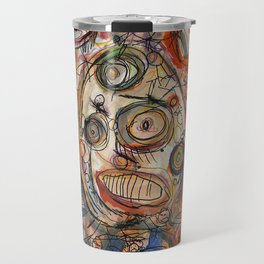 Faces Faces Travel Mug