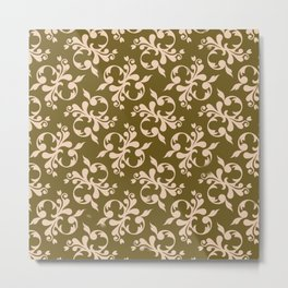 Beige flower decoration Metal Print