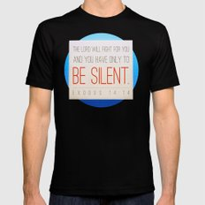 SILENT Mens Fitted Tee MEDIUM Black