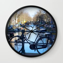 Amsterdam canal 1 Wall Clock