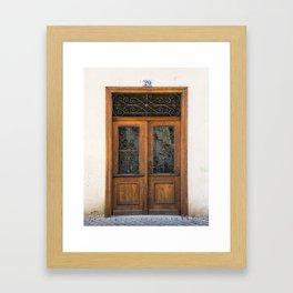 Door number twenty-nine Framed Art Print