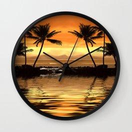 Tropical Seascape Wall Clock