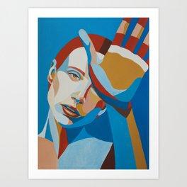 Face study / portrait Art Print