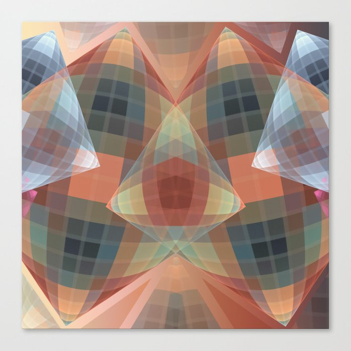 Diamonds and patterns, trendy geometric abstract Canvas Print